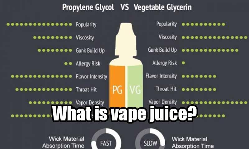 What is vape juice?